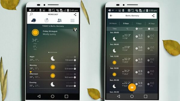 Morecast App for Android