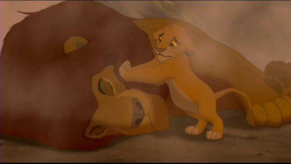 the lion king 1994 mufasa death scene