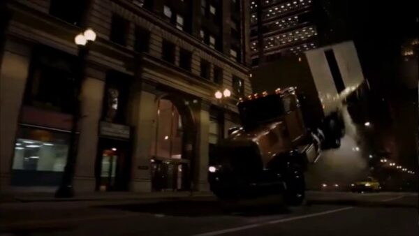 Truck Flip The Dark Knight Movie