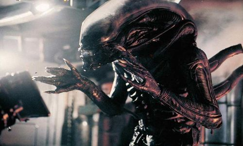 Alien scary movie