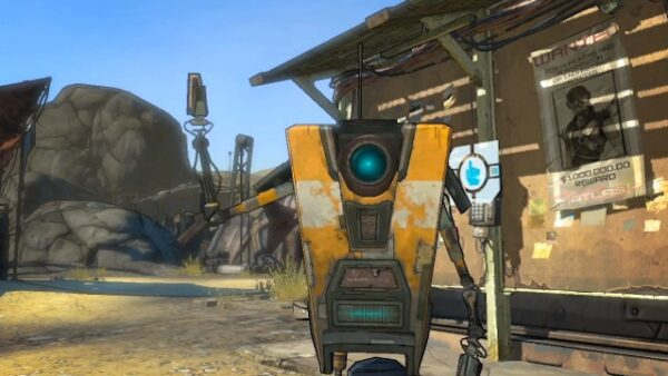 cute character Claptrap from Borderlands
