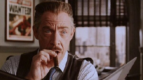 JK Simmons as J Jonah Jameson