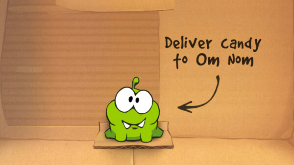 Cute Om Nom from Cut the Rope