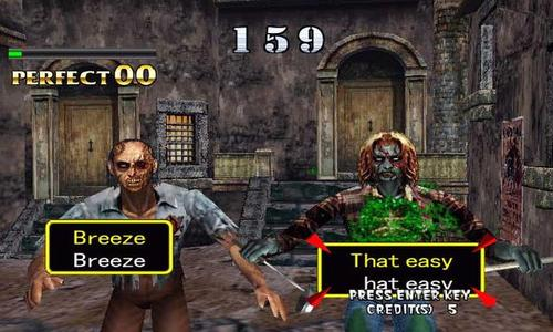 The Typing of the Dead Zombie Game