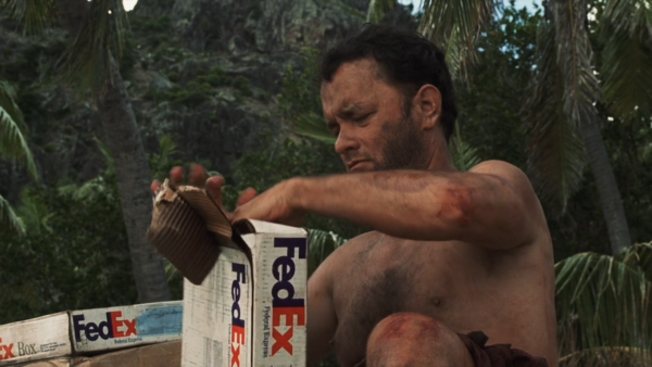What is inside the FedEx Package in Cast Away