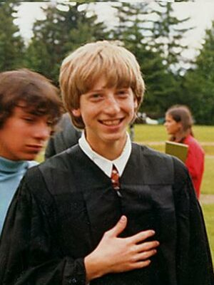 bill gates High School Picture