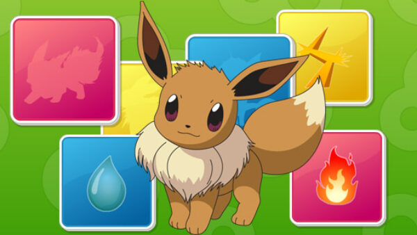 Beautiful character Eevee from Pokemon video game