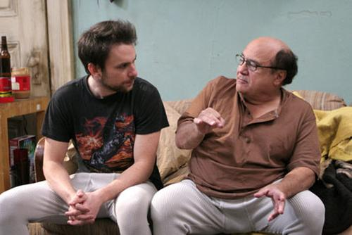 Frank Reynolds and Charlie Kelly from It's Always Sunny in Philadelphia