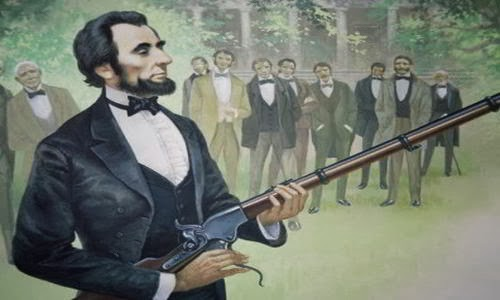 Abraham Lincoln test fired rifles