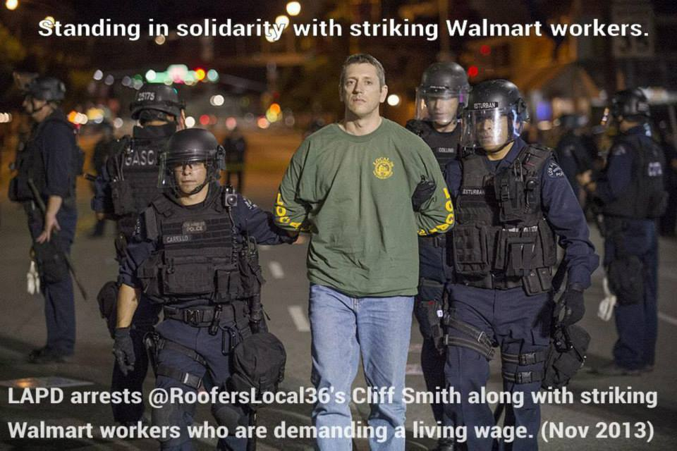 2013- Demanding $15/hr for WalMart workers.