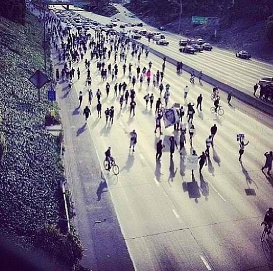 Our Trayvon march spills onto 10 freeway