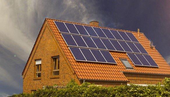 Residential solar energy pv system array installation tile roof