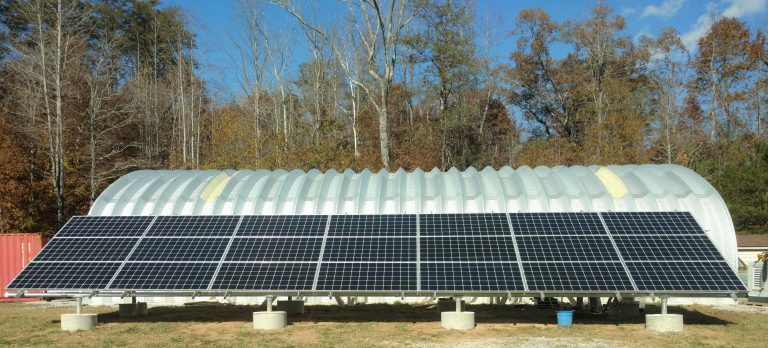 Farm ground mount solar panels Asheville, NC