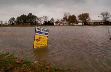 coastal flooding caused by climate change