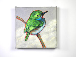 Green Hummer, by Thomas Cory (Acrylic)