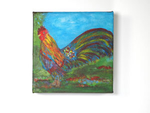 Rooster Al Fresco, by Claudia Gray (Acrylic)