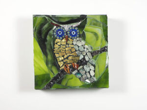 Owl, by Barbara Schlein (Glass Mosaic)