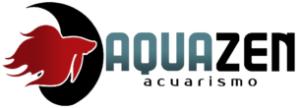logo horizontal recortado de aquazen acuarismo, acuarios y peces