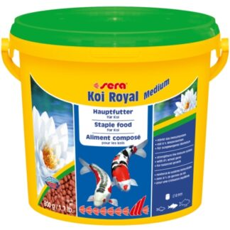 alimento para peces de estanque koi royal medium