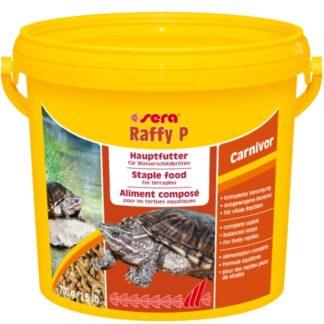 alimento en pellet para tortugas acuaticas. Raffy P de la marca Sera, formato Balde de 700 gramos o 3,8 litros.