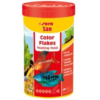 """alimento realzador del color para peces tropicales marca sera, """"san"""""""