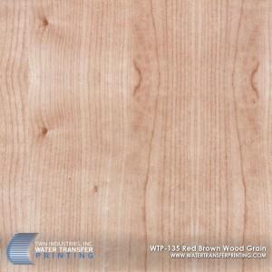 WTP-135 Red Brown Wood Grain