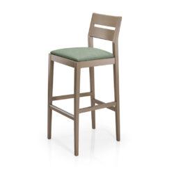 Sammi Wood-Back Barstool