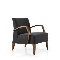 Smith Lounge Chair – Wooden Arm