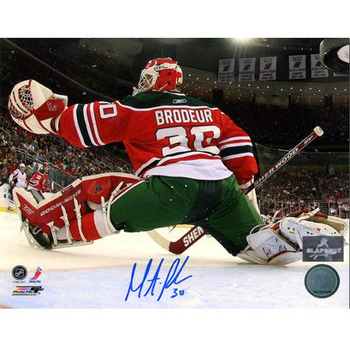 Martin Brodeur New Jersey Devils Signed Retro Jersey 8x10 Photo