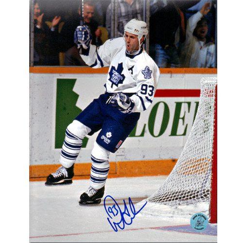 Doug Gilmour Goal Celebration Photo Toronto Maple Leafs Signed 8x10