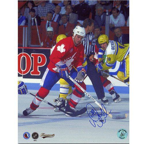 Doug Gilmour Team Canada Signed Canada Cup 8x10 Photo