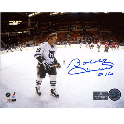 Bobby Hull Autographed Picture Hartford Whalers NHL Panoramic 8x10