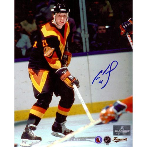 Cam Neely Rookie Photo Signed Vancouver Canucks 8x10