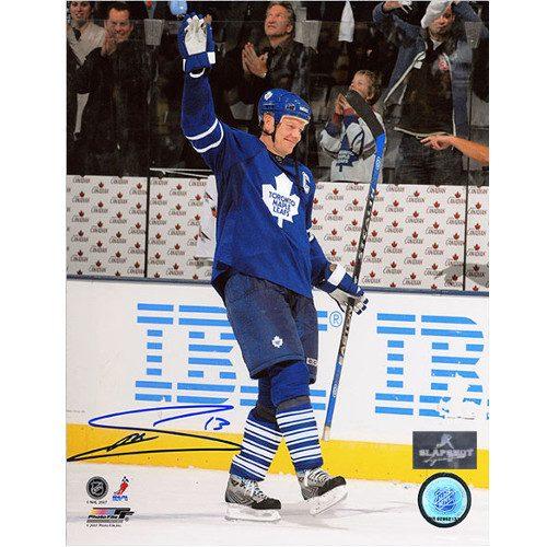 Mats Sundin Toronto Maple Leafs Signed Points Record 8x10 Photo