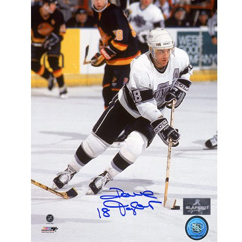 Dave Taylor Hockey Photo Signed LA Kings 8x10