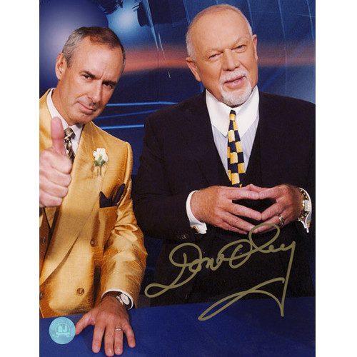 Don Cherry Ron McLean Coach's Corner Autographed Jacket Switch 8x10 Photo