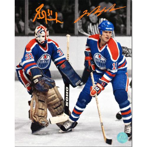 Mark Messier & Grant Fuhr Edmonton Oilers Dual Signed Photo