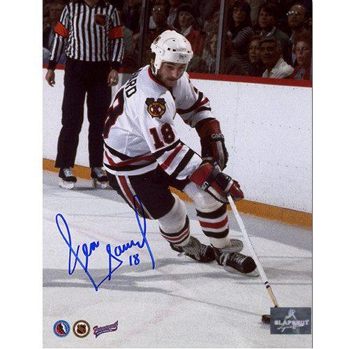 Denis Savard Signed Picture Chicago Blackhawks Playmaker 8X10
