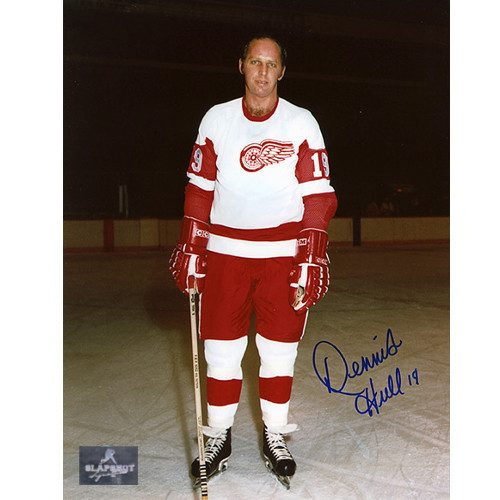 Dennis Hull Autograph 8x10 Photo-Detroit Red Wings