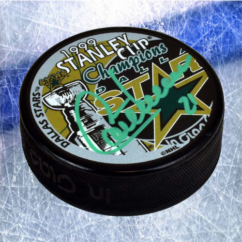 Guy Carbonneau Stanley Cup Signed Puck-Dallas Stars