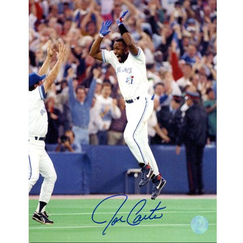 Joe Carter 1993 World Series Celebration Signed 8x10 Photo