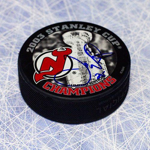 Joe Nieuwendyk New Jersey Devils 2003 Stanley Cup Signed Puck
