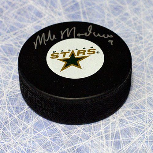 Mike Modano Signed Puck Dallas Stars
