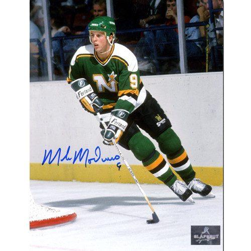 Mike Modano Minnesota North Stars Autographed 8X10 Vintage Photo