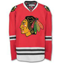 chicago blackhawks red vintage hockey jersey