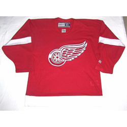 detroit red wings red vintage hockey jersey