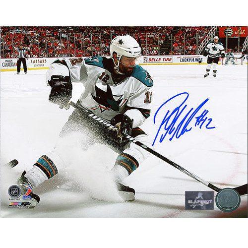 Patrick Marleau San Jose Sharks Autographed 8X10 Action Photo