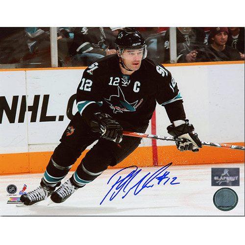 Patrick Marleau San Jose Sharks Autographed 8X10 Skating Photo