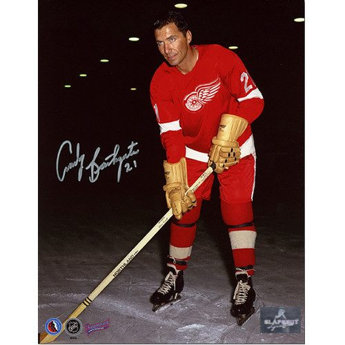 Andy Bathgate Signed Detroit Red Wings 8x10 Photo