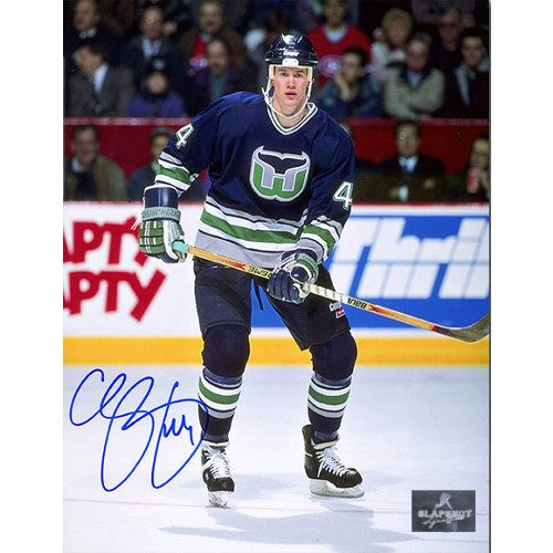 Chris Pronger Rookie Hartford Whalers Signed Photo 8X10